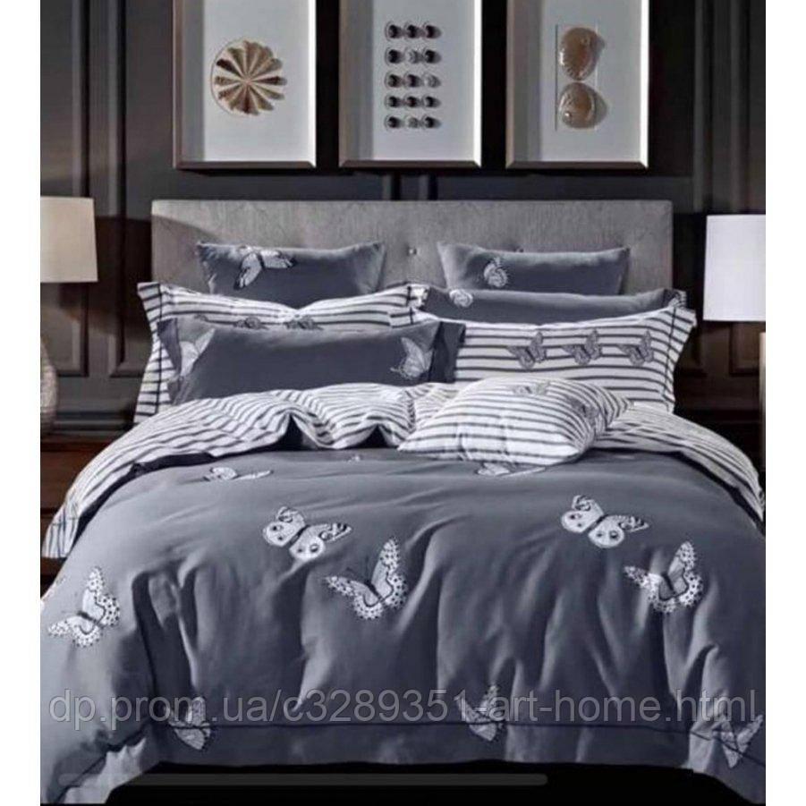 Евро постельное белье Бязь Gold - Ночные бабочки