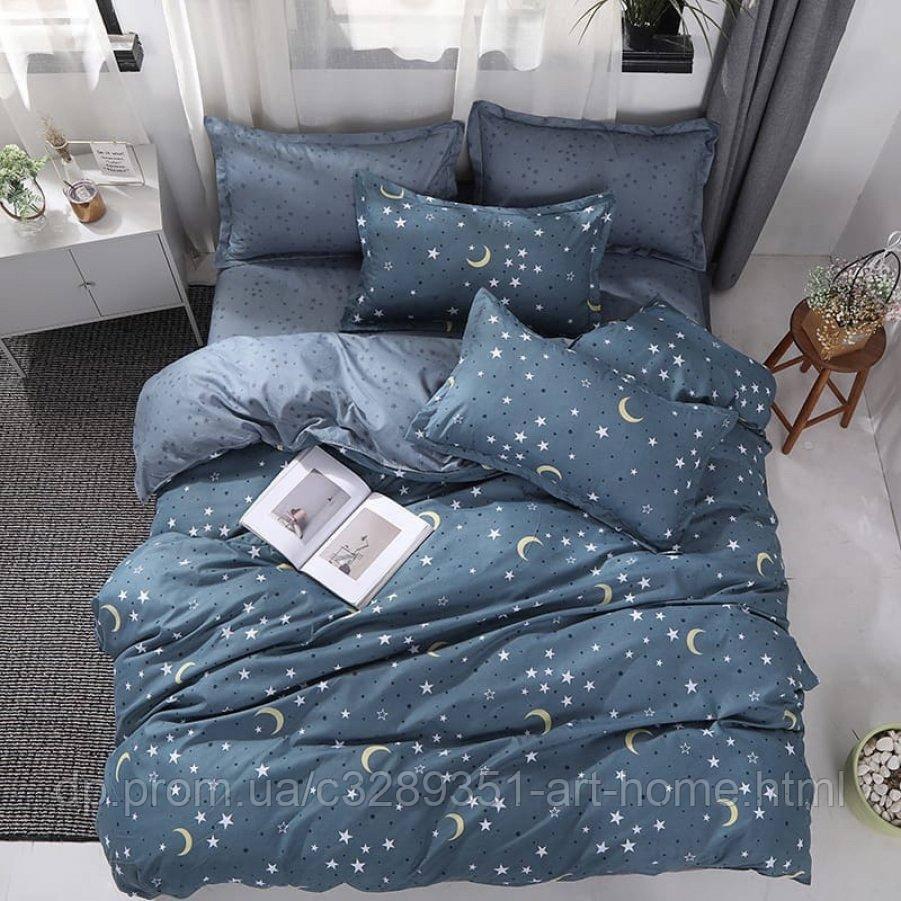 Двуспальное постельное белье Бязь Gold - Тихие звезды
