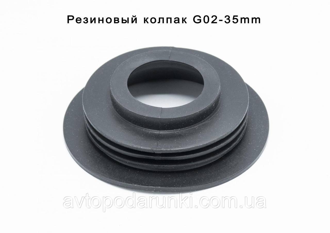 Резиновая заглушка для автомобильной фары  с отверстием (Ø100мм; Øотв.35 мм) крышка (колпак) блока фары,