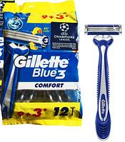 Gillette Blue3 Comfort одноразовые станки для бритья 12 штук