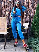 Женский спортивный модный костюм WANG укороченный свитшот и джоггеры на резинке