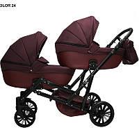 Детская коляска для двойни MIKRUS GEMELLO 24