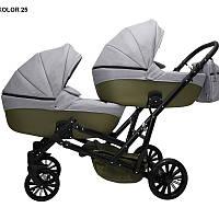Детская коляска для двойни MIKRUS GEMELLO 25