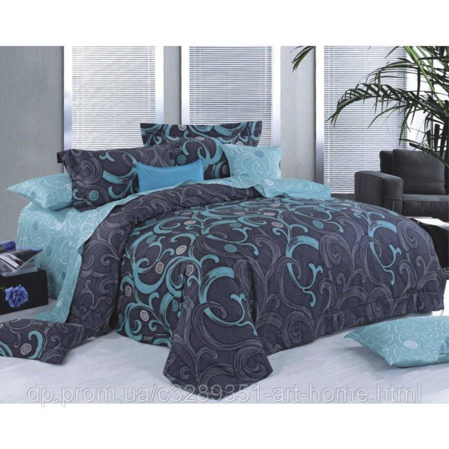 Двуспальное постельное белье Бязь Gold - Изумруд