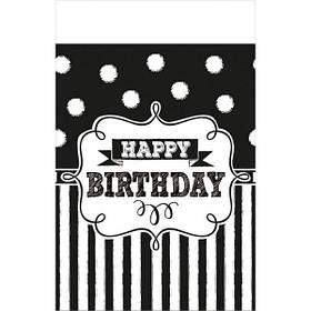 """Скатертина стиль """"Happy birthday"""", 137*259 см, Скатерть """"С днем рождения"""""""