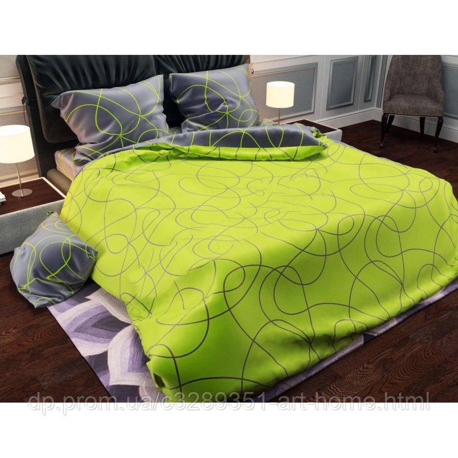 Двуспальное постельное белье Бязь Gold - Мохито грэй