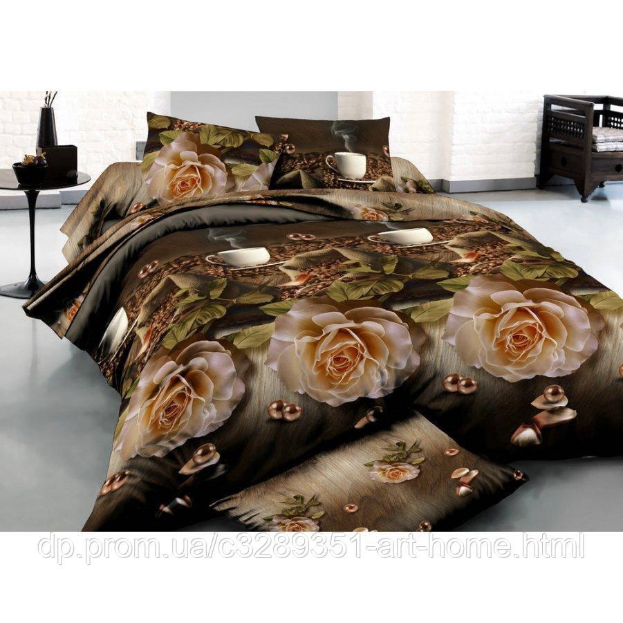 Полуторное постельное белье Бязь Gold - Арабика