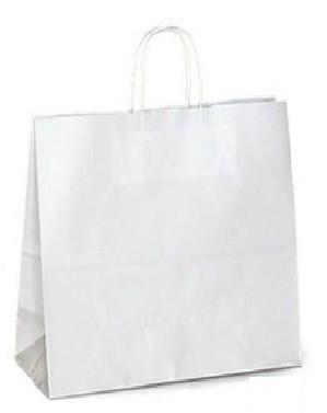 Білий крафт-пакет з витими ручками (320х160х420)