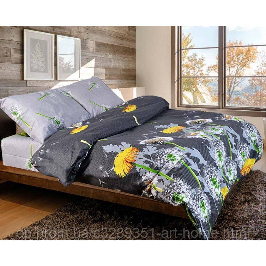 Семейное постельное белье Бязь Gold - Одуванчик серый