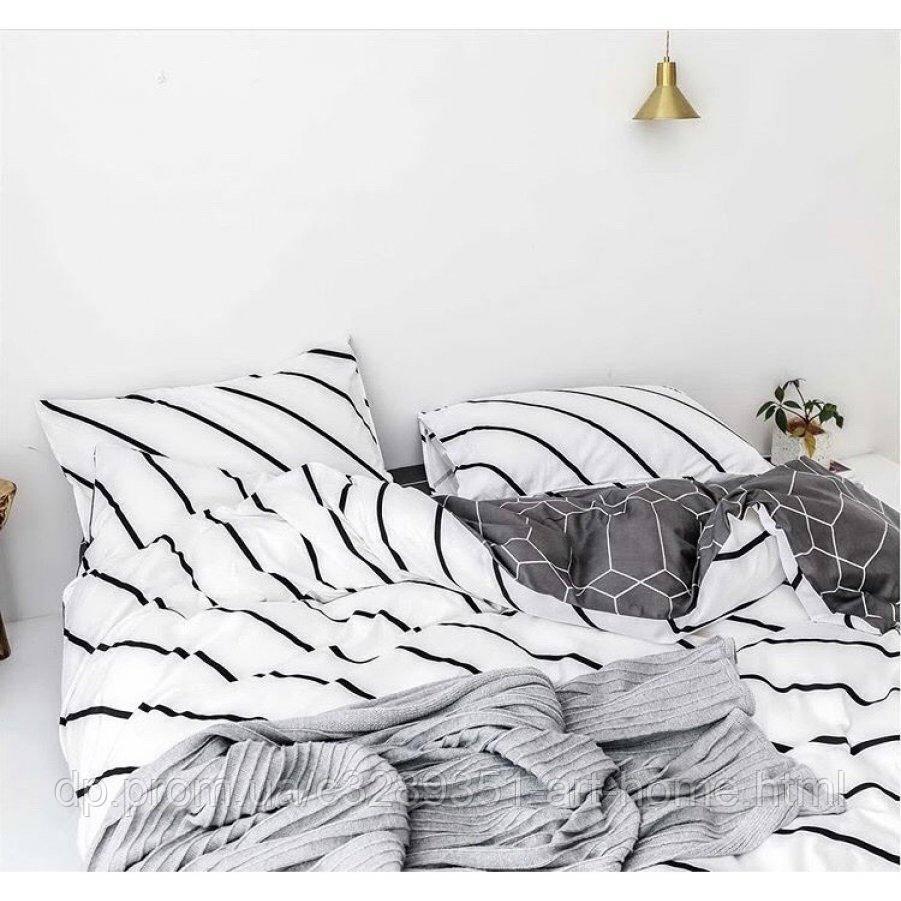 Двуспальное постельное белье Бязь Gold - Пантера Альба