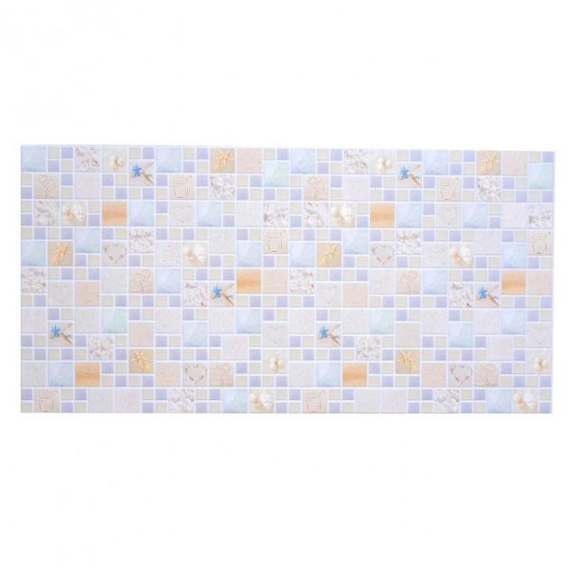 Настінна декоративна Панель ПВХ (Мозаїка лагуна піщана)