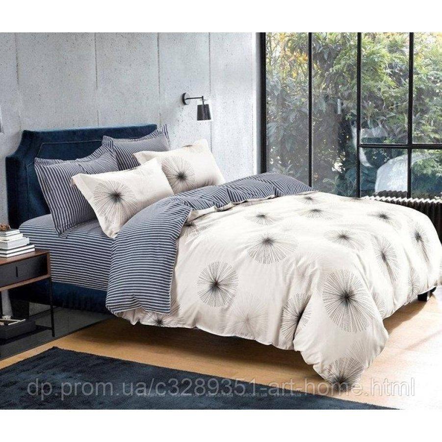 Двуспальное постельное белье Бязь Gold - Африканский одуванчик беж