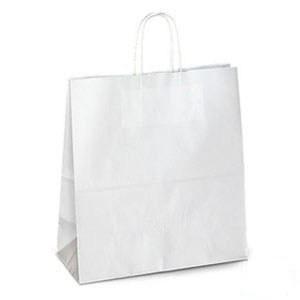 Білий крафт-пакет з витими ручками (230х120х290)