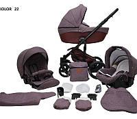 Дитяча універсальна коляска 2 в 1 Mikrus Comodo 22