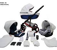 Детская универсальная коляска 2 в 1 Mikrus Comodo Red 01