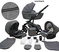 Детская универсальная коляска 2 в 1 Mikrus Comodo Silver 12