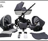 Детская универсальная коляска 2 в 1 Mikrus Genua 04