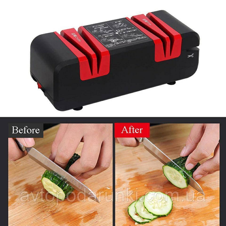 Электро точилка для ножей многофункциональная,  бытовой станок для заточки ножниц, ножей, отверток QN-M801 (220В, 60Вт.)