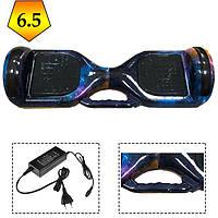 Гироскутер гироборд SMART BALANCE 6.5 дюймов c ручкой для переноски (Радуга/галактика)