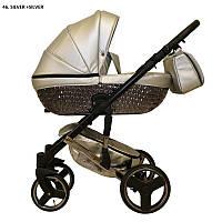 Детская универсальная коляска 2 в 1 Mikrus Specchio Silver 46