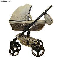 Детская универсальная коляска 2 в 1 Mikrus Specchio Silver 8