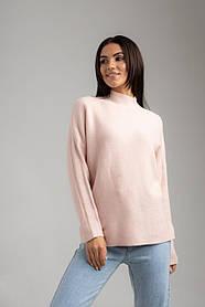 Приятный свитер с  горловиной стойкой свободного кроя в 4 цветах в универсальном размере