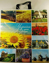 """Пакет с петлевой ручкой (42*47+3 )60 мкм""""Україна моя країна"""" ХВГ (25 шт)"""
