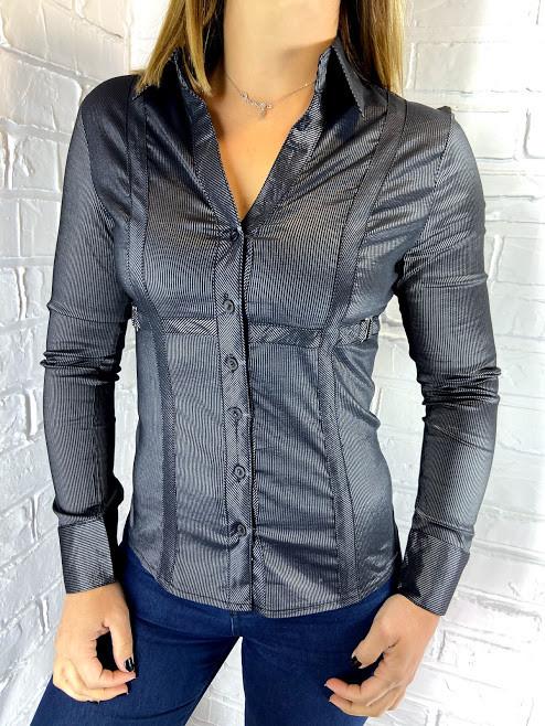 Рубашка женская 7216 серая L/XL/XXL/XXXL