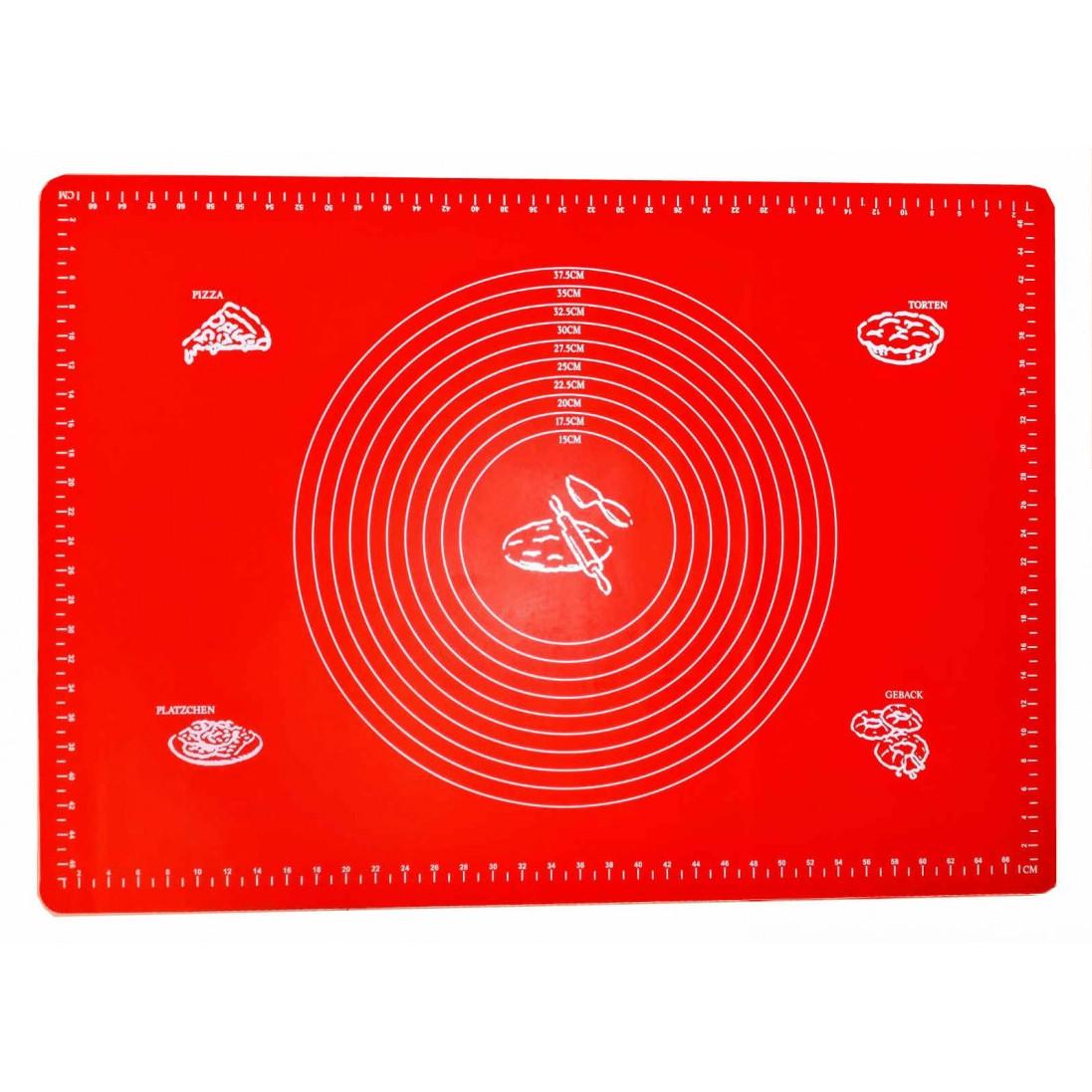 Силиконовый коврик 50 х 70 см Красный 1294
