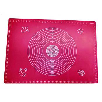 Силіконовий килимок 50 х 70 см Рожевий 1294