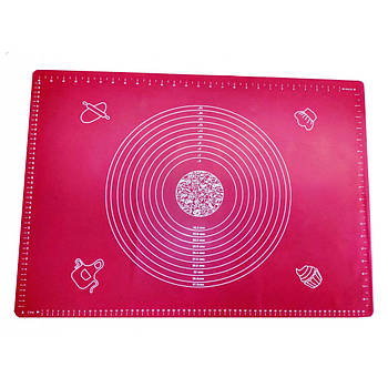 Силиконовый коврик 50 х 40 см Розовый