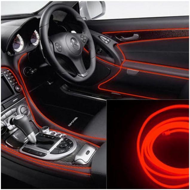 Гибкий светодиодный неон Ltl для автомобиля 5 метров DC 12v Оранжевый