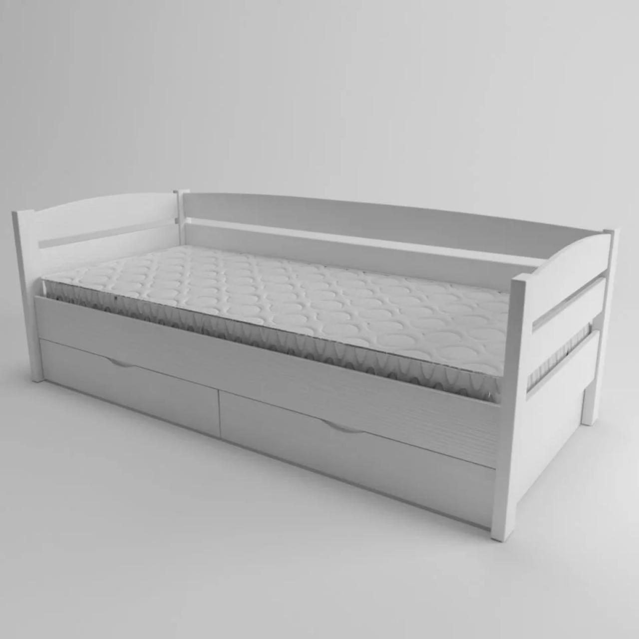 Ліжко дитяче дерев'яне Диванчик (масив ясеня)