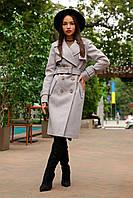 Демисезонное двубортное пальто из кашемира Монте 8089, фото 1