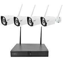 Комплект видеонаблюдения WI FI с 4-мя камерами высокого разрешения