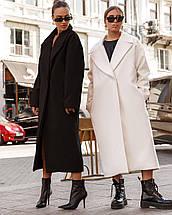 Пальто женское с кашемиром оверсайз  AniTi 407, черный, фото 3