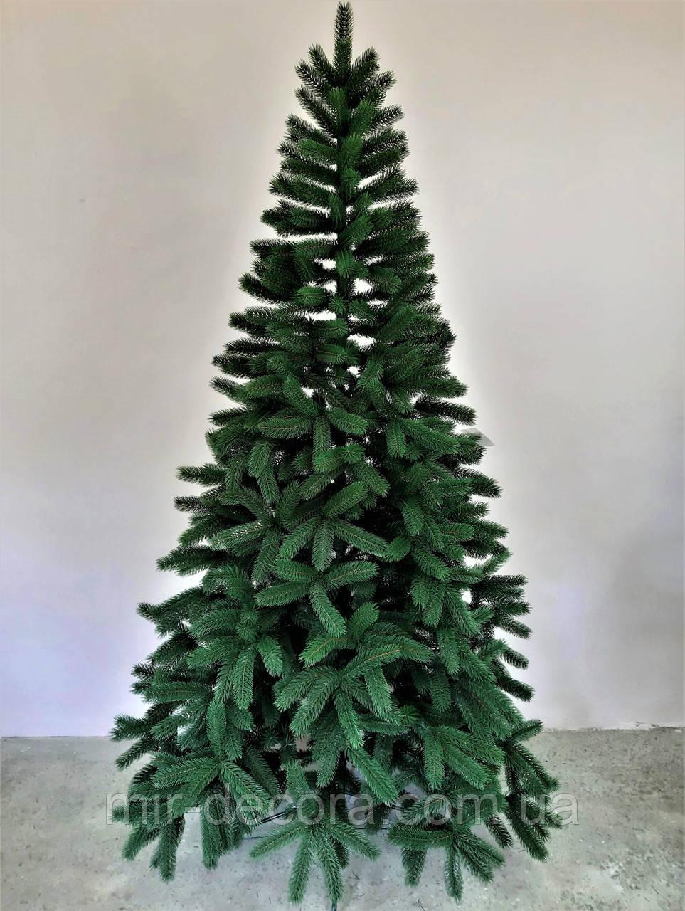 Искусственная новогодняя елка литая Буковельская зеленая (высота 2,1 м )