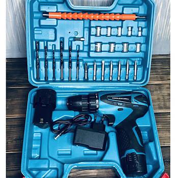 Шуруповерт аккумуляторный с набором инструментов Cordless Drill