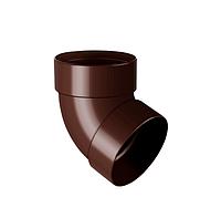 Отвод трубы 75 мм 67° двухмуфтовый, водосточная система RAINWAY. Цвет RAL 8017 коричневый.