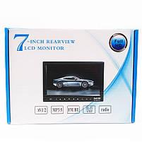 """Монітор для камери заднього виду 7"""" 12193 автомобільний (Black)   Автомонитор для камери, фото 4"""