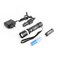 Мощный фонарь T8626, с led-диодом OSRAM, zoom, зарядка сетевая/авто