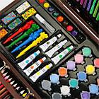 Набор для рисования и творчества в деревянном чемодане 123 предмета, фото 3