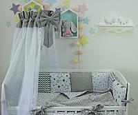 Комплект в кроватку, бортики , захист в ліжечко ,защита в кроватку ,постель в кроватку 2312