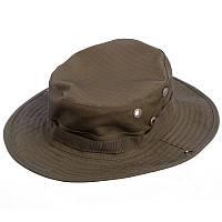 Панама-шляпа тактическая с широкими полями мужская Zelart Полиэстер Хаки (TY-6303)