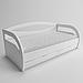 Ліжко дитяче дерев'яне Баварія (масив ясеня), фото 2