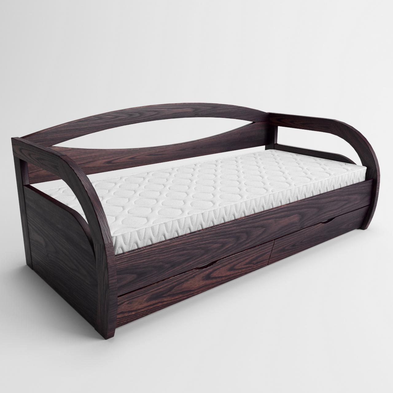 Кровать детская деревянная Бавария (массив ясеня)