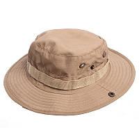 Панама-шляпа тактическая с широкими полями мужская Zelart Полиэстер Бежевый (TY-6303)