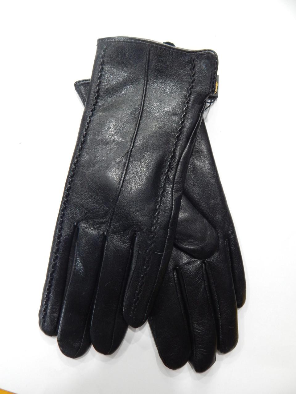 Шкіряні жіночі рукавички на кролика оптом