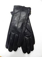 Шкіряні жіночі рукавички на кролика оптом, фото 1