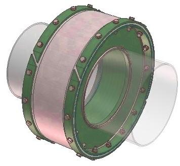 Тканевый компенсатор тип КТ 1,03 с внутренней изоляцией